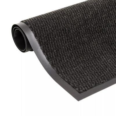 vidaXL Alfombra de entrada rectangular de nudo 80x120 cm negra