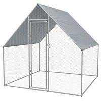 vidaXL Jaula gallinero de exterior de acero galvanizado 2x2x1,92 m