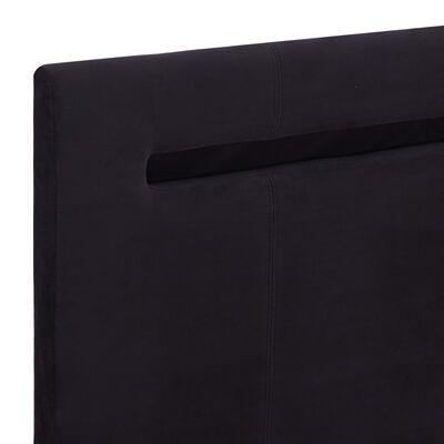 vidaXL Estructura de cama con LED tela negro 160x200 cm