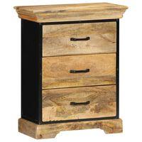 vidaXL Mueble con cajones madera maciza de mango 60x30x75 cm