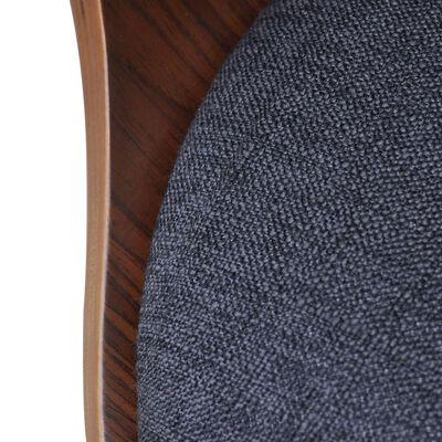 vidaXL Sillas de comedor 6 unidades madera curvada y tela gris oscuro