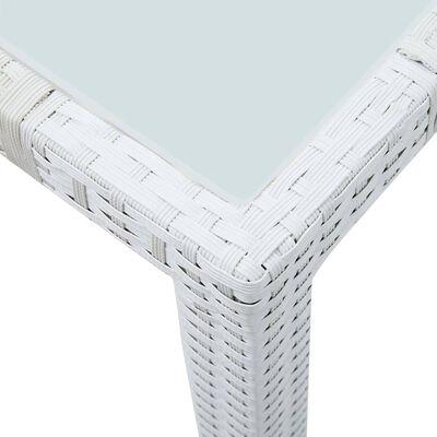 vidaXL Mesa de jardín de ratán sintético blanco 150x90x75 cm