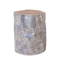 Mesa auxiliar, Diseño cilíndrico en madera, GORDON