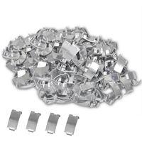 500 clips cola de milano para cable concertina de acero galvanizado