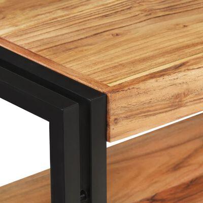 vidaXL Mesa consola de madera maciza de acacia 120x30x75 cm