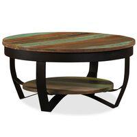 vidaXL Mesa de centro de madera maciza reciclada 65x32 cm