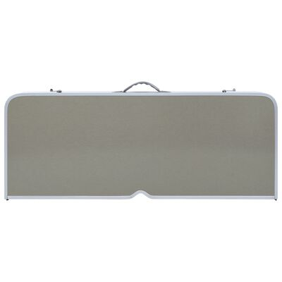 vidaXL Mesa de camping plegable con 4 asientos acero aluminio
