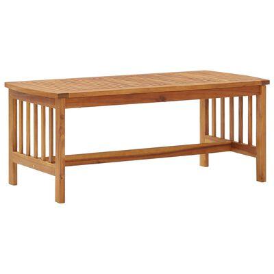 vidaXL Mesa de centro de madera maciza de acacia 102x50x43 cm