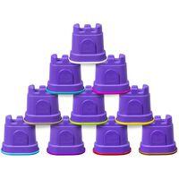 Kinetic Sand Arena cinética con 10 contenedores en forma de castillo