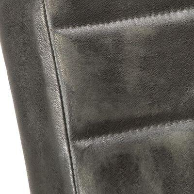 vidaXL Sillas voladizas de comedor 4 unidades cuero auténtico gris