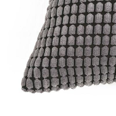 vidaXL Cojines de terciopelo 40x60 cm gris 2 unidades