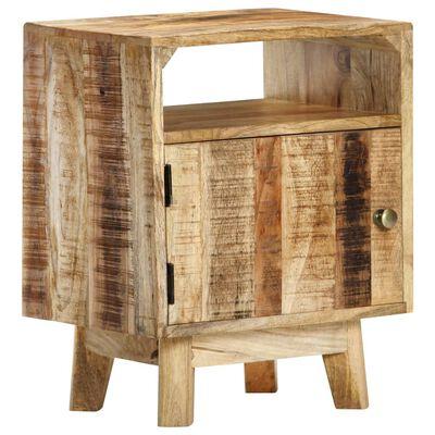 vidaXL Mesita de noche de madera de mango rugosa 40x30x50 cm