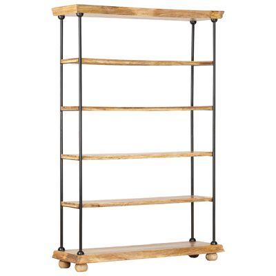 vidaXL Estantería 5 niveles madera maciza mango y acero 120x35x180 cm