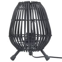 vidaXL Lámpara de pie de mesa Willow negro 60 W 20x27 cm E 27