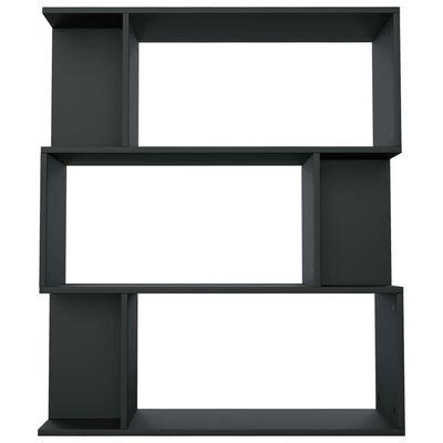 vidaXL Estantería/separador de ambientes aglomerado negro 80x24x96 cm