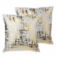 Conjunto de cojines decorativos en terciopelo dorado 45x45 cm GARDENI