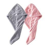 Paquete de 2 toallas de microfibra para el cabello - gris / rosa