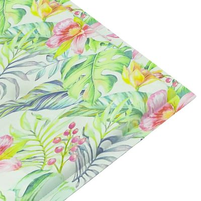 vidaXL Cojín para banco de jardín tela estampado de hoja 200x50x4 cm