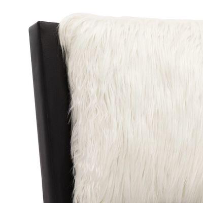 vidaXL Estructura de cama cuero sintético negro y blanco 120x200 cm