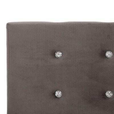 vidaXL Estructura de cama de terciopelo gris 180x200 cm
