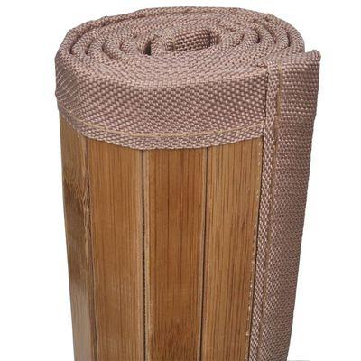 vidaXL Alfombrillas de baño 4 unidades bambú marrón 60x90 cm