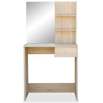 vidaXL Tocador de madera aglomerada 75x40x141 cm color roble