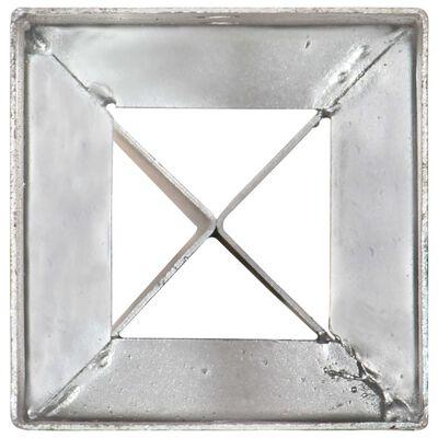vidaXL Picas de tierra 12 uds acero galvanizado plateado 10x10x91 cm