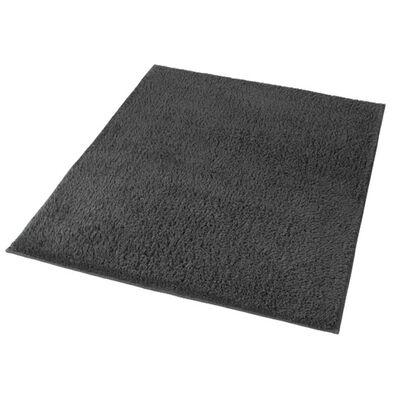 Kleine Wolke Alfombra para baño Kansas gris antracita 55x65 cm