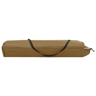 vidaXL Tumbona plegable para 2 personas acero gris taupe