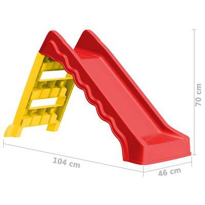 vidaXL Tobogán para niños plegable interior y exterior rojo y amarillo