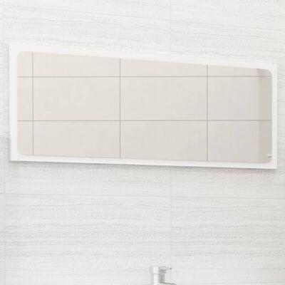 vidaXL Espejo de baño aglomerado blanco 90x1,5x37 cm