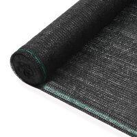 vidaXL Toldo para pista de tenis HDPE 1,4x50 m negro