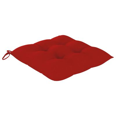 vidaXL Cojines de silla 2 unidades rojo 50x50x7 cm