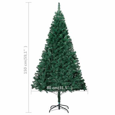 vidaXL Árbol de Navidad artificial con ramas gruesas PVC verde 150 cm