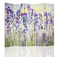 Biombo Lavender Watercolour - Separador de Ambientes