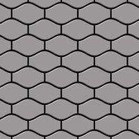 ALLOY Karma-S-S-MA Mosaico de metal sólido Acero inoxidable gris