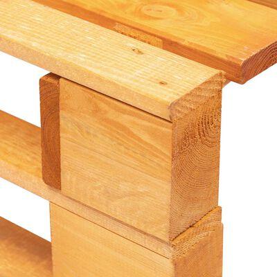 vidaXL Otomana de palets de jardín marrón miel madera pino impregnada