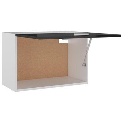 vidaXL Armario colgante de cocina aglomerado negro brillo 80x31x40 cm