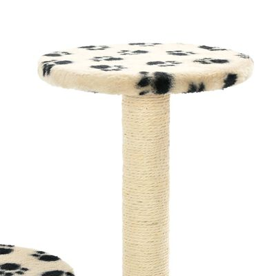 vidaXL Rascador para gatos con poste de sisal 60 cm huellas beige