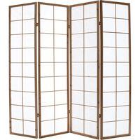 Biombo japonés de madera y papel