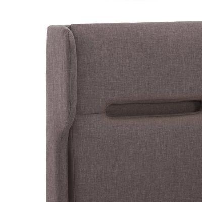 vidaXL Estructura de cama con LED tela gris taupe 120x200 cm