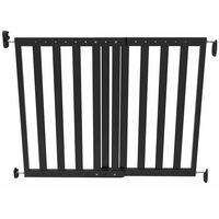 Noma Puerta de seguridad extensible 63,5-106 cm madera negra 93743