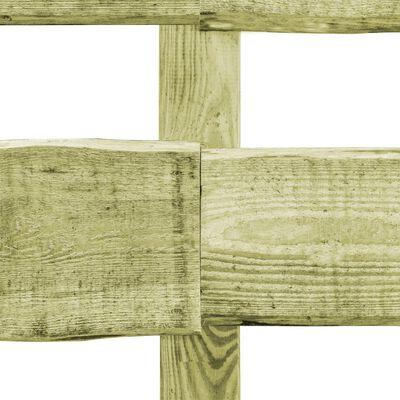 vidaXL Vallas de jardín 2 travesaños 5 uds madera pino 510x60 cm