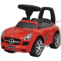 vidaXL Coche correpasillos para niños Mercedes Benz rojo