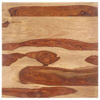 vidaXL Superficie de mesa madera maciza de sheesham 25-27 mm 60x60 cm
