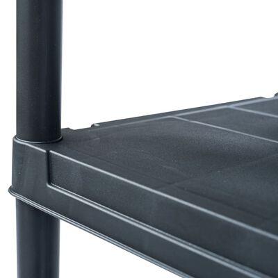 vidaXL Estantería de plástico 2 unidades 125 kg 60x30x180 cm negro