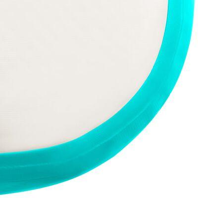 vidaXL Esterilla inflable de gimnasia con bomba PVC verde 60x100x20 cm