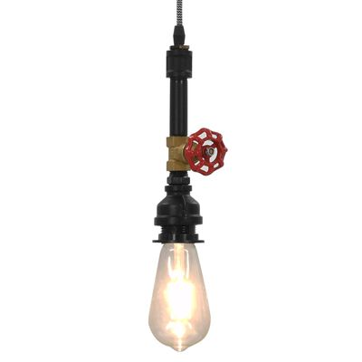 vidaXL Lámpara de techo diseño de grifo negra E27