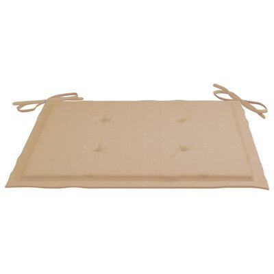 vidaXL Cojines de silla de jardín 6 uds tela beige 40x40x4 cm