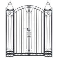vidaXL Puerta de jardín decorativa de hierro forjado 122x20,5x160 cm